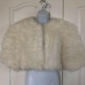 Vintage Vera Mont Real Feather Shrug Bolero
